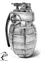 Grenade table lighter by Cookai