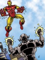 Iron Man VS Ultron by Zircules