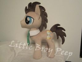 my little pony Dr. Whooves Plush (commission) by Little-Broy-Peep