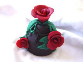 Rose bottle by tragedienne