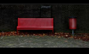 Bench and wastebin by Rob1962