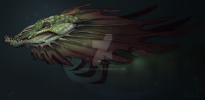 Seaserpent - speedpainting by AbelPhee