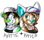 Katie and Kayla ID by GhostRiderWolf