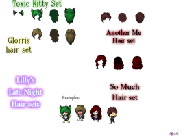 Lilly's Late Night Hair sets by lillydachic