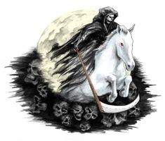Grim Reaper on a Pale Horse by Bhiggins1218