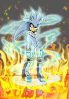 SILVER IN FLAMES O.O by JustinRelinaleInc