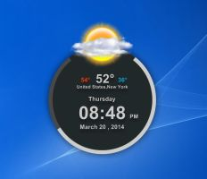 TSF Clock Weather HD for xwidget by jimking