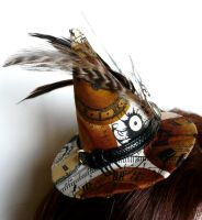 Steampunk Witch Hat Feathers by teatimeinc