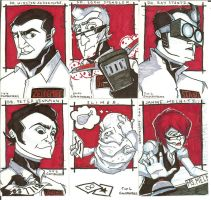 Ghostbusters Sketch Cards 2 by JackIvy