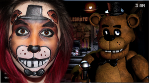 Five Nights At Freddy's | FREDDY facepaint by SophieXSmith
