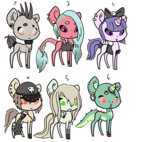 Skull squad Pony adopts. OTA. - OPEN- by OfficerMittens