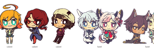 c: $7 chibis batch 1! by pepaaminto