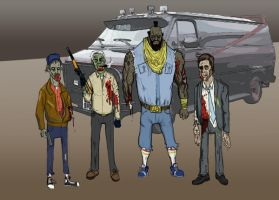 Zombie A-Team by JackHook