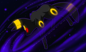Umbreon uses Dark Pulse by Kilala04