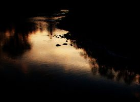 River At Sunset by izzybizy