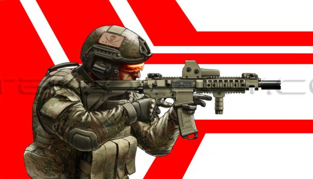M4 Carbine with Operator by Jerry-Teo