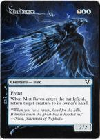 Magic Card Alteration: Mist Raven 12-19 by Ondal-the-Fool