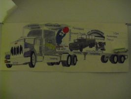 379 Peterbilt Poster Collage by Deorse