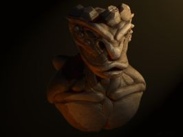 Creature 3D sculpt by necromantic-monk