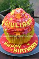 Bollywood Style Giant Cupcake by peeka85