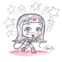Sketch-a-day 1_WWoman_chibi_ by tombancroft