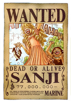sanji's wanted poster funny by flaxOP