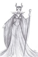 Sketch: Maleficent by LaminaNati