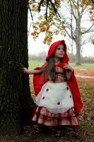 Mia Halloween 2012 as Little Red Riding Hood by Liliummoon