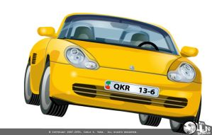 Yellow Porsche by DrMind