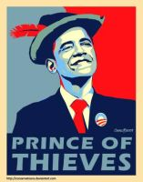 Obama: Prince of Theives by Conservatoons