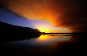 Bushfire sunset by jbrum