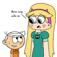 Lincoln Loud is luckier than Star Butterfly by MarcosPower1996