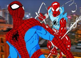 Spider-Man and Ben Reilly by Snakethoot