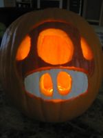 Mario Pumpkin Contest Entry by BassOwnage88