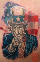 Uncle Sam We Want You Tattoo done by Sean Ambrose by seanspoison