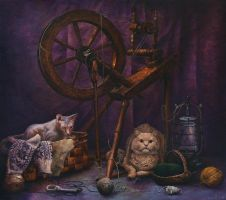 Tailor's Cats by AldemButcher
