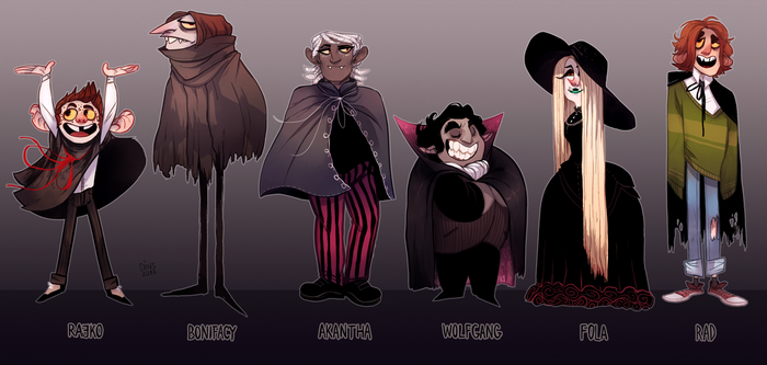 vampire oc lineup by SIIINS