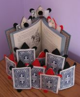Alice Wonderland Plush Cards by BethanysToyBox