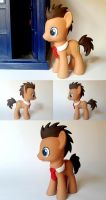 Dr. Whooves w/ Red Tie G4 Custom Pony by Oak23