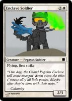 Enclave Soldier Magic Card by UWoodward