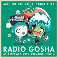Radio Gosha at Emerald City Comic Con 2014 by GoshaDole