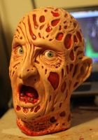 Freddy Kreuger head DECAPITATED! (Lifesize) by godaiking