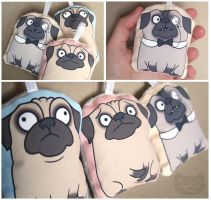 Pug Ornaments by creaturekebab