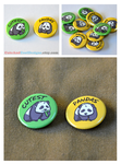 Cute Panda 2 Pinback Button by artshell