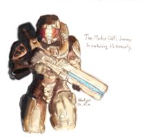 halo4 Master Chief color by bluelightt