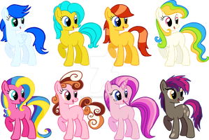 MLP:FiM Pony adoptables CLOSED by AdolfWolfed4Life