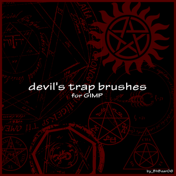 devil's trap brushes by BhBear06