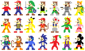 Me As 8-Bit Game Characters 1 by Jelle-C