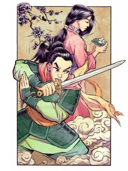 Ping and Mulan by rmharris