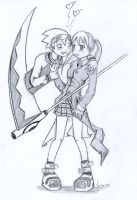 Soul and Maka by Vikita
